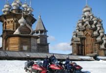 В Кижи на снегоходах
